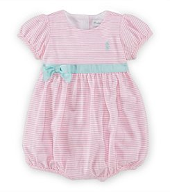 Ralph Lauren Childrenswear Baby Girls' 3-24M Bubble One Piece