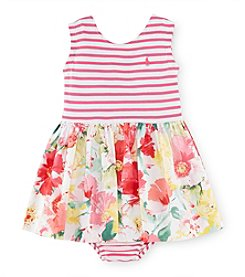 Ralph Lauren Childrenswear Baby Girls' 3-24M Striped And Floral Dress