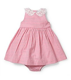 Ralph Lauren Childrenswear Baby Girls' 3-24M Seersucker Pleated Dress