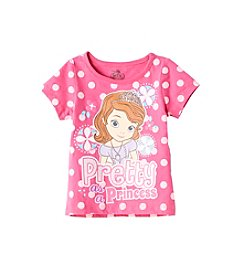 Disney® Girls' 2T-6X Short Sleeve Princess Tee