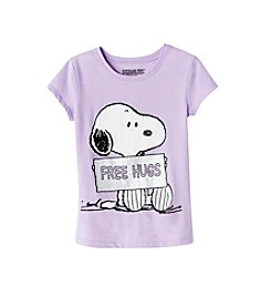Peanuts® Girls' 7-16 Short Sleeve Snoopy®