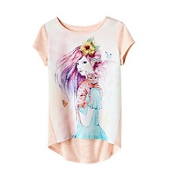 Jessica Simpson Girls' 7-16 Short Sleeve Marie Bengal Cat Tee