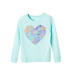 Jessica Simpson Girls' 7-16 Long Sleeve Heart Tee