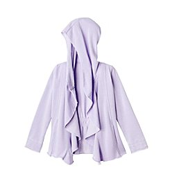 Jessica Simpson Girls' 7-16 Fleece Ruffle Jacket