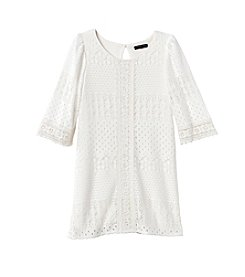 Sequin Hearts® Girls' 7-16 3/4 Sleeve Lace Dress