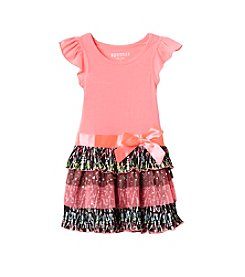 Squeeze® Girls' 2T-6X Flutter Sleeve Party Dress