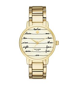kate spade new york® Women's Goldtone Gramercy Chalkboard Watch