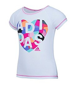 adidas® Girls' 2T-6X Short Sleeve Heart Tee
