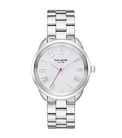 Kate Spade New York® Women's Silvertone Crosstown Stainless Watch with Mother of Pearl Dial