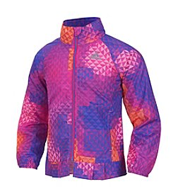 adidas® Girls' 2T-6X Mosaic Printed Wind Jacket