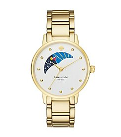 kate spade new york® Women's Goldtone Gramercy Moonphase Watch