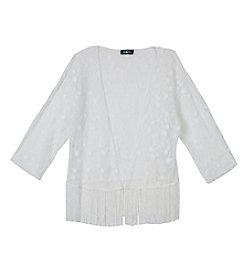 Amy Byer Girls' 7-16 Lace Fringe Top