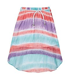 Amy Byer Girls' 7-16 High Low Tie-Dye Skirt