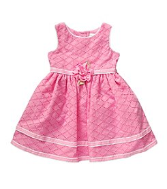 Sweet Heart Rose® Girls' 2T-6X Sleeveless Dress With Flower Waistband