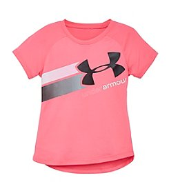 Under Armour® Girls' 2T-6X Short Sleeve Fly By Logo Tee