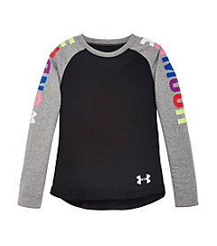 Under Armour® Girls' 2T-6X Long Sleeve Favorites Raglan Tee