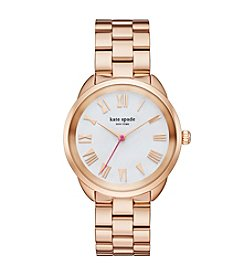 kate spade new york® Women's Rose Goldtone Crosstown Watch with Mother of Pearl Dial