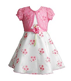Sweet Heart Rose® Girls' 2T-6X Floral Dress With A Cardigan