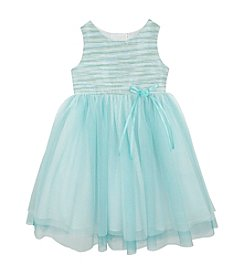 Rare Editions® Girls' 2T-6X Sleeveless Tulle Hem Bottom Dress