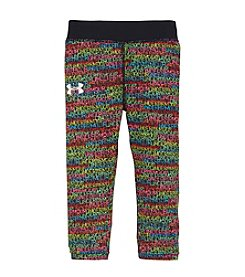 Under Armour® Girls' 2T-6X Printed Wordmark Capri Leggings
