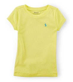 Ralph Lauren Childrenswear Girls' 2T-6X Cotton Tee