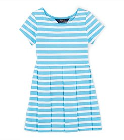 Ralph Lauren Childrenswear Girls' 2T-6X Striped Fit And Flare Dress