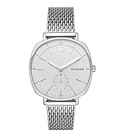Skagen Denmark Women's Silvertone Rungsted Watch With Mesh Bracelet