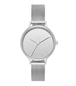 Skagen Denmark Women's Silvertone Anita Mirror Dial Watch With Mesh Bracelet