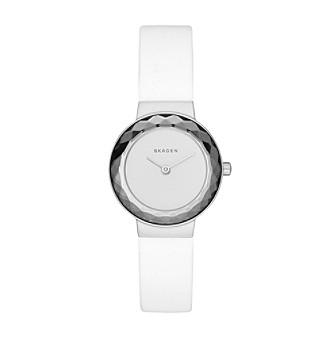 Skagen Women's Leonora Watch in Silvertone with White