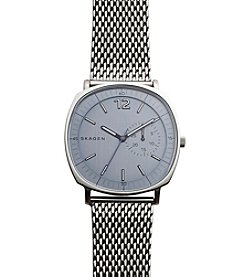 Skagen Denmark Men's Rungsted Watch in Silvertone With Mesh Bracelet