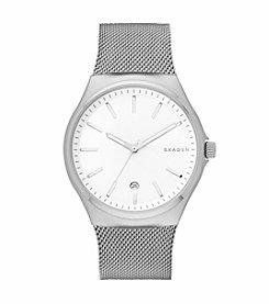 Skagen Denmark Men's Sundby Watch in Silvertone With Mesh Bracelet