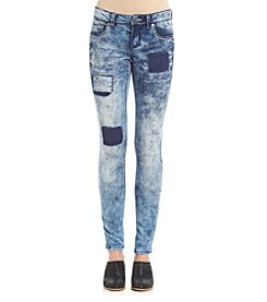 Crave Fame® Super Stretch Patched Skinny Jeans