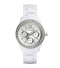 Fossil® Women's White Stella Acetate Watch