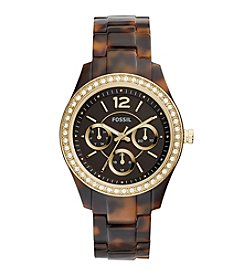 Fossil® Women's Tortoise Stella Acetate Watch