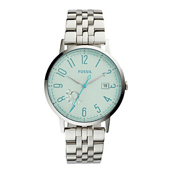 Fossil® Women's Silvertone Vintage Muse Watch with Link