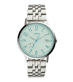 Fossil® Women's Silvertone Vintage Muse Watch with Link Bracelet