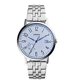Fossil® Women's Silvertone Vintage Muse Watch with Link Bracelet