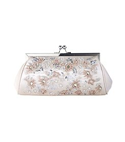La Regale® Floral Jeweled Cluster Clutch