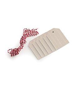 Nordic Ware® 6-ct. Wood Gift Tags with Baker's Twine