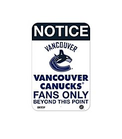 NHL® Vancouver Canucks Fans Only Aluminum Sign