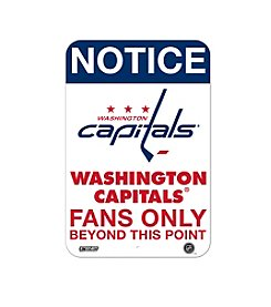 NHL® Washington Capitals Fans Only Aluminum Sign