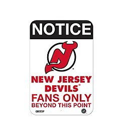 NHL® New Jersey Devils Fans Only Aluminum Sign