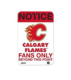 NHL® Calgary Flames Fans Only Aluminum Sign