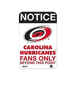 NHL® Carolina Hurricanes Fans Only Aluminum Sign