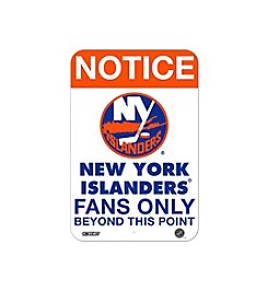 NHL® New York Islanders Fans Only Aluminum Sign