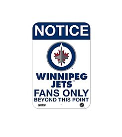 NHL® Winnipeg Jets Fans Only Aluminum Sign