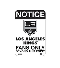 NHL® LA Kings Fans Only Aluminum Sign