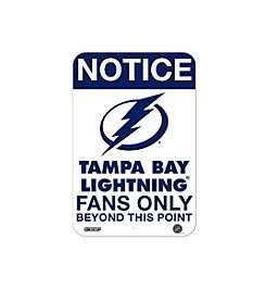 NHL® Tampa Bay Lightning Fans Only Aluminum Sign