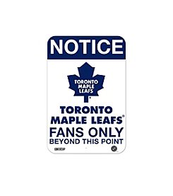 NHL® Toronto Maple Leafs Fans Only Aluminum Sign