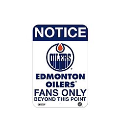 NHL® Edmonton Oilers Fans Only Aluminum Sign
